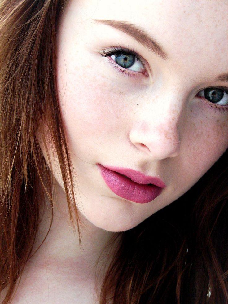 Pretty Girl. Fair Skin, Deep Eyes, Beautiful Full Lips Of