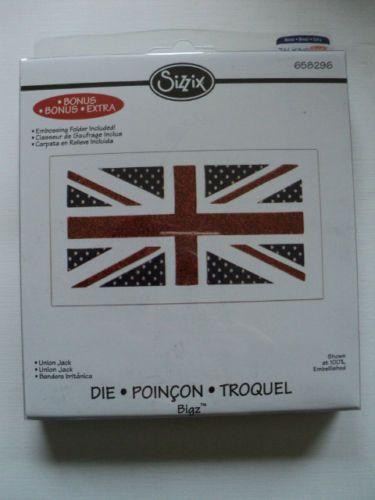 Sizzix-Bigz-Die-Union-Jack-NUOVO-con-confezione-LOOK