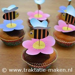 Topper de Cupcake - Jardim Encantado