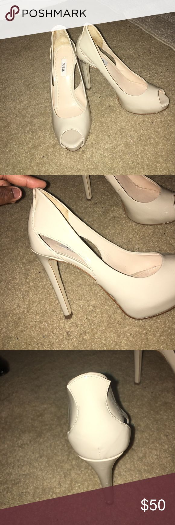 High Heeled Guess Shoes Worn once, minor scuff on the heel Guess Shoes Heels