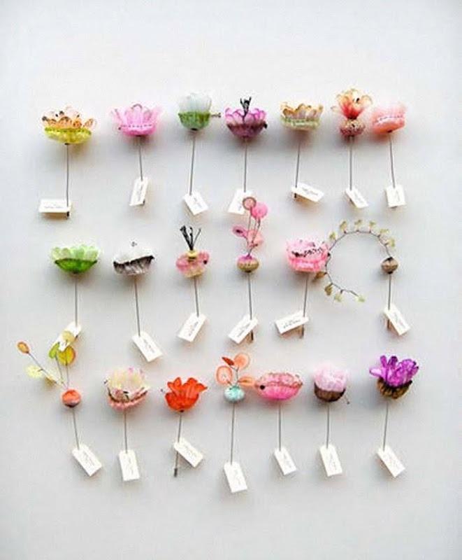 Floral place cards