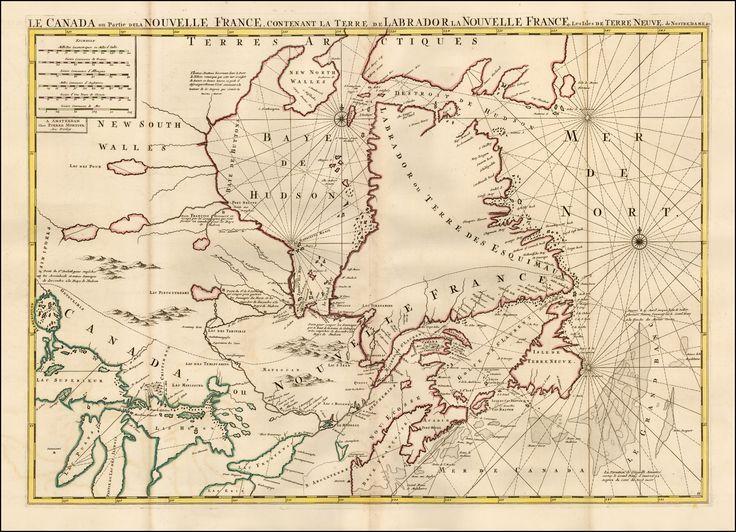 La Canada ou Partie de la Nouvelle France, contenant la Terre de Labrador la Nouvelle France, les Isles de Terre neuve, de Nostre Dame by Pierre Mortier (c. 1700). #cdnhistory #cartography
