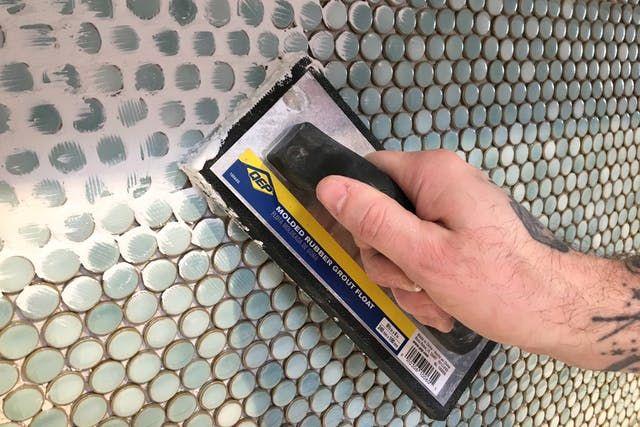 How To Grout A Tile Backsplash Like A Pro Diy Grout Tile Backsplash Diy Kitchen Backsplash