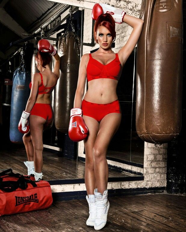 Super sexy girls sex boxing hard and