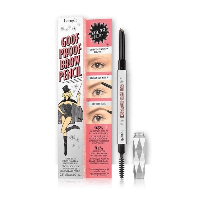 11 Buzzy Makeup Products Blowing Up on Social Media | Byrdie. Benefit Goof Proof Eyebrow Pencil ($24)