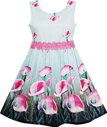 Beautiful pink lily dress for girls