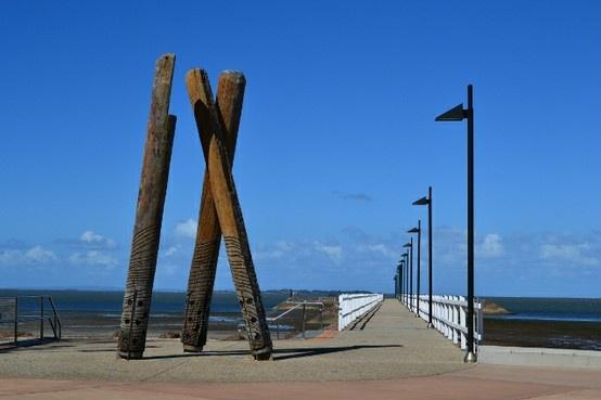#brisbane #australia #queensland #sky #sea #ocean #blue #pier