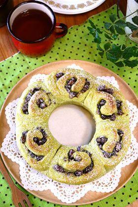 「ふわふわ宇治金時ミルクリングパン」ぱお | お菓子・パンのレシピや作り方【corecle*コレクル】