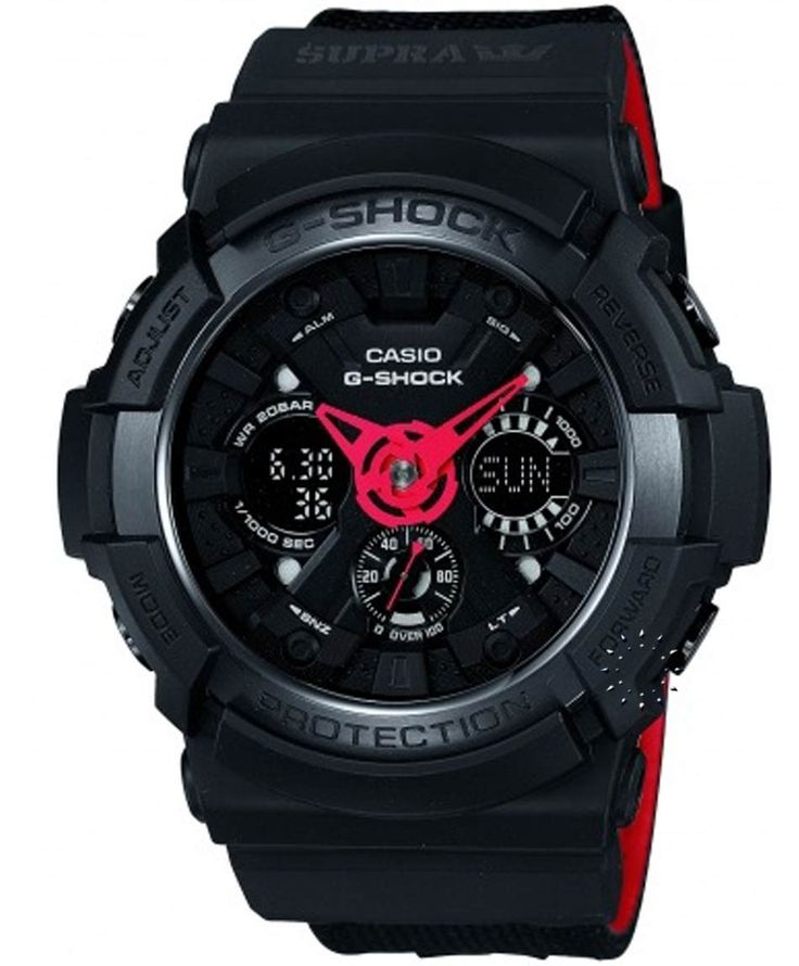 CASIO G-Shock Supra Limited Edition Black Rubber Strap Μοντέλο: GA-200SPR-1AER Η τιμή μας: 236€ http://www.oroloi.gr/product_info.php?products_id=34543