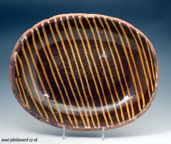 An English Slipware Baking Dish late 18th early 19th century