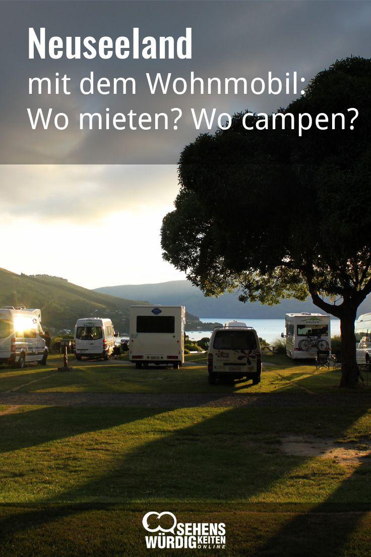 Neuseeland ist für Wohnmobile gemacht! Man schläft in der spektakulären Natur und kann einfach dort bleiben, wo es schön ist! Unsere Tipps zum Mieten und kaufen, zum Campen und für unterwegs. #Wohnmobil #Neuseeland #Camper #Reisetipps