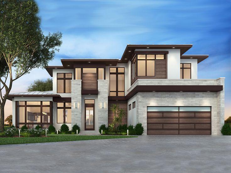 069H 0027: Two Story Modern House Plan. Luxury House PlansModern ...