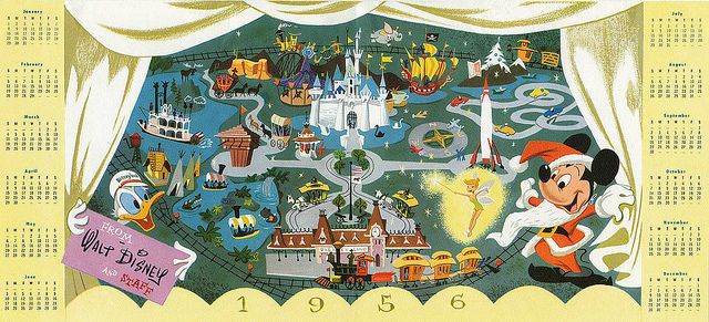 1955 Walt Disney Studio Christmas Card