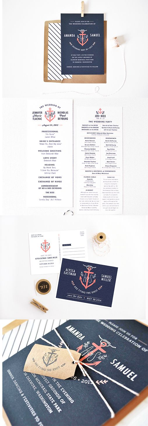 wedding stationery | nautical wedding | nautical wedding invitations | navy wedding | Rachel Marvin Creative #weddingchicks