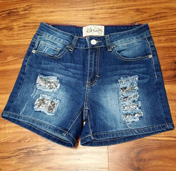 Denim Sparkle Shorts