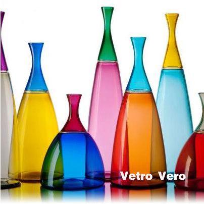 2012 Dwell on Design Show Standouts - Beautiful and elegant Simpatico Vases by Vetro Vero: Glass Art, Vetro Vero, Glasses, Color, Michael Schunke, Bottle, Josie Gluck