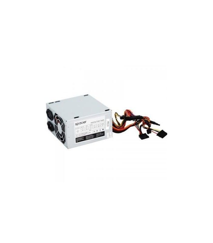 Sursa de alimentare noua SPACER 500W, fan 120mm, SPS-ATX-500-V12
