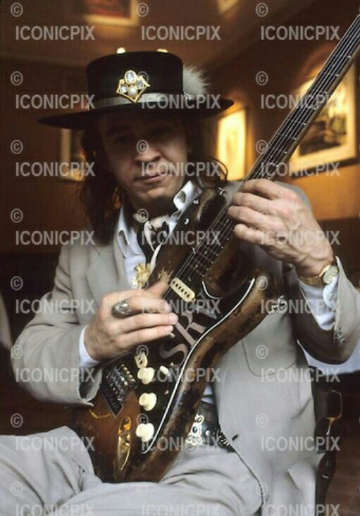 Stevie Ray Vaughan - Photosession in Paris France - 23 Sep 1986. Photo credit: Christian Rose/Dalle/IconicPix