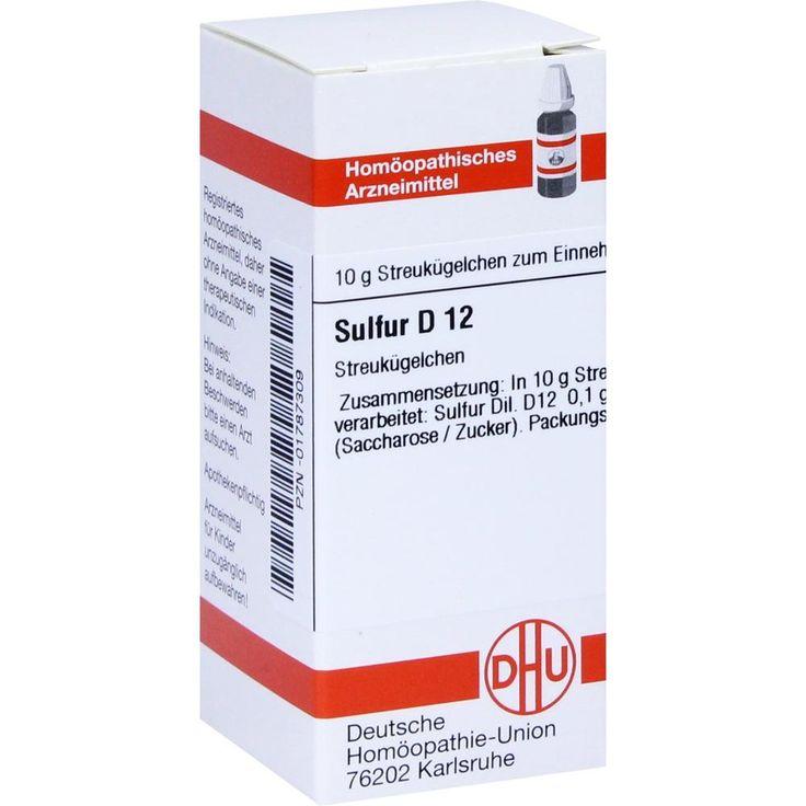 SULFUR D 12 Globuli:   Packungsinhalt: 10 g Globuli PZN: 01787309 Hersteller: DHU-Arzneimittel GmbH & Co. KG Preis: 5,50 EUR inkl. 19 %…