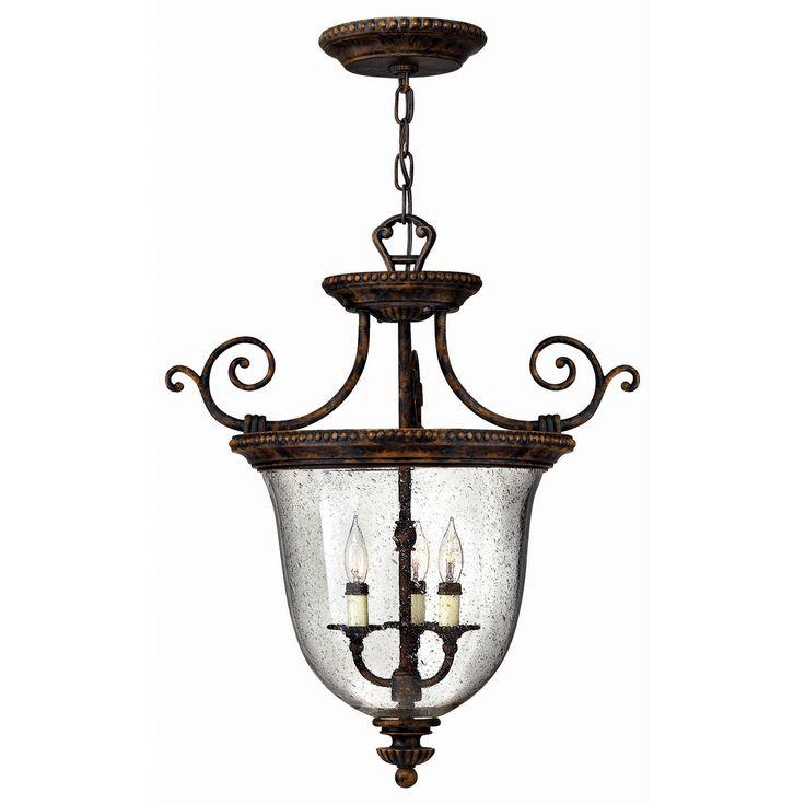 Hinkley lighting 3713fb 3 light rockford foyer light forum bronze 449 00 20 74wx21h