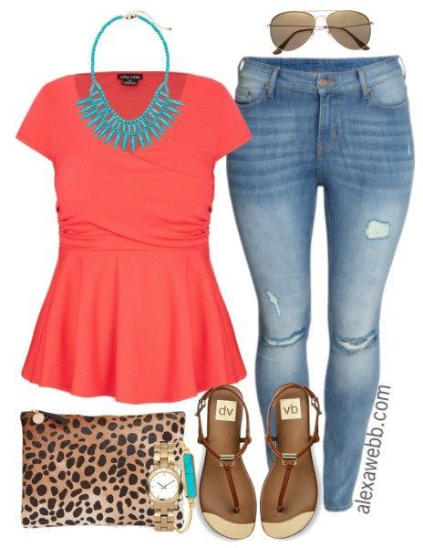 Plus Size Outfit Idea - Plus Size Fashion for Women - Plus Size Jeans - AlexaWebb.com #alexawebb