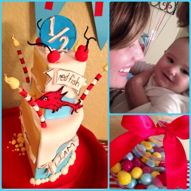 Half birthday cake dr. Suess