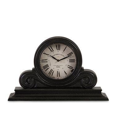 This Black Mantel Clock is perfect! #zulilyfinds