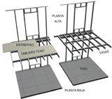 En steel framing, el concepto principal de una estructura de entrepiso es dividir la estructura en una gran cantidad de elementos estructurales equidistantes, las vigas metálicas ligeras de la construcción en seco.