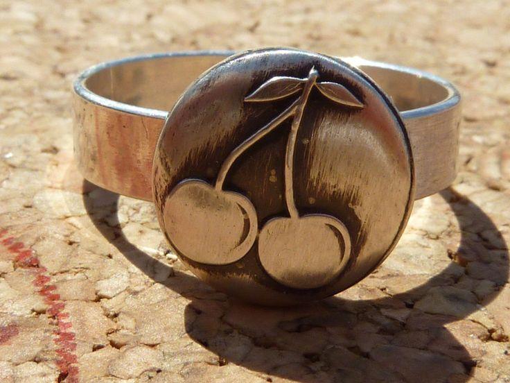 Silberringe - Silberring(925S) mit Kirschen ,Ring offen - ein Designerstück von schmuck-checker bei DaWanda