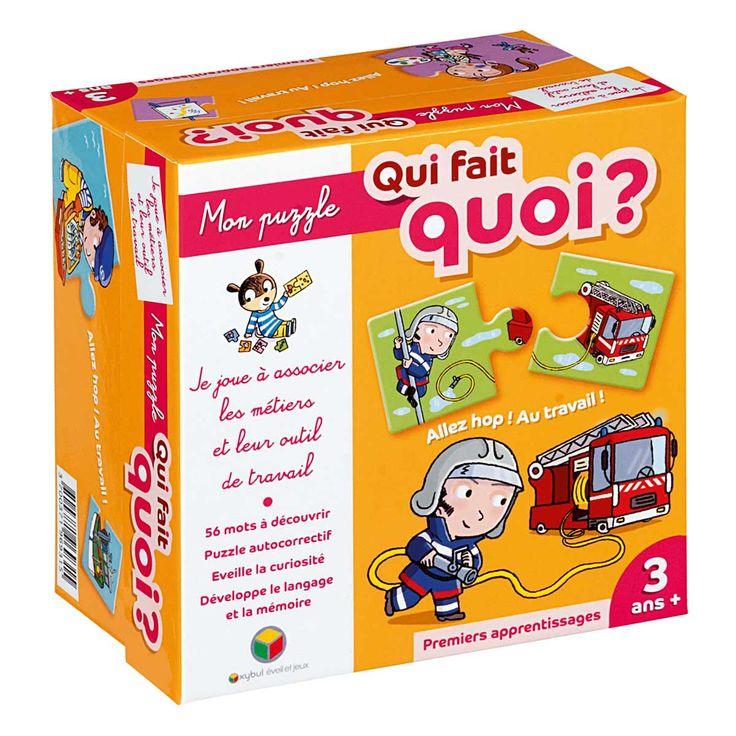 Mon puzzle : Qui fait quoi ? Oxybul pour enfant de 3 ans à 5 ans - Oxybul éveil et jeux >> 13 ...