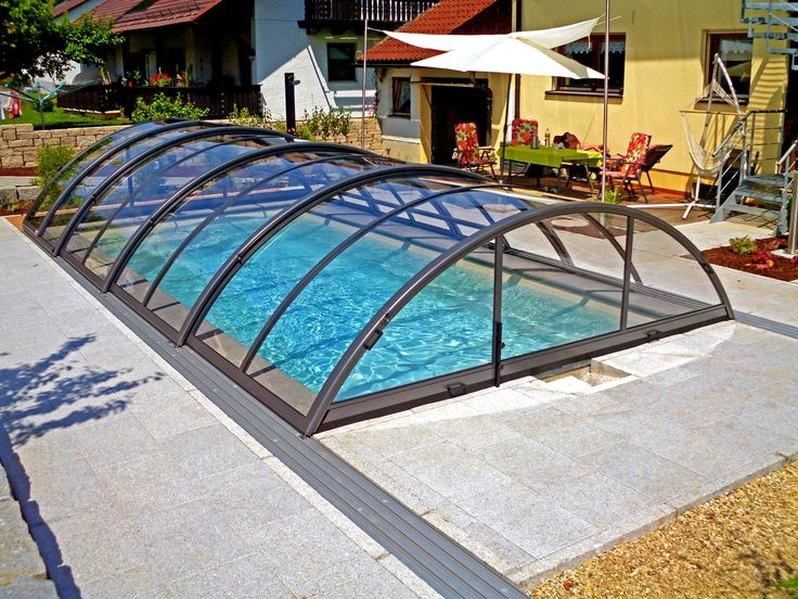 52 best swimming pool track glass closure retractable for Swimming pool enclosures cost