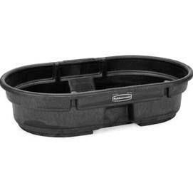 Use a water tank or horse trough for a heavy duty dog pool. Can even be built in-ground!  Rubbermaid 50 Gallon Stock Tank Black