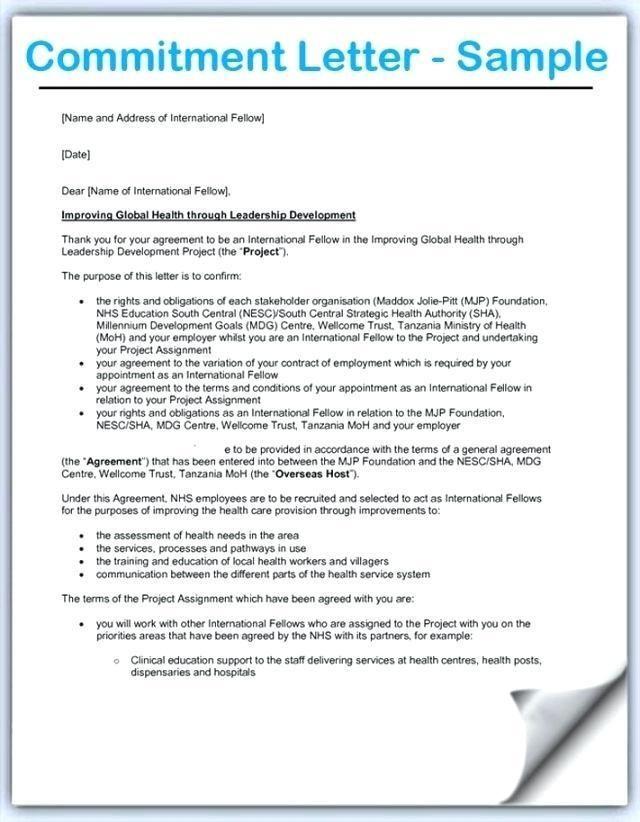 Mortgage Commitment Letter Sample Mortgage Commitment Letter