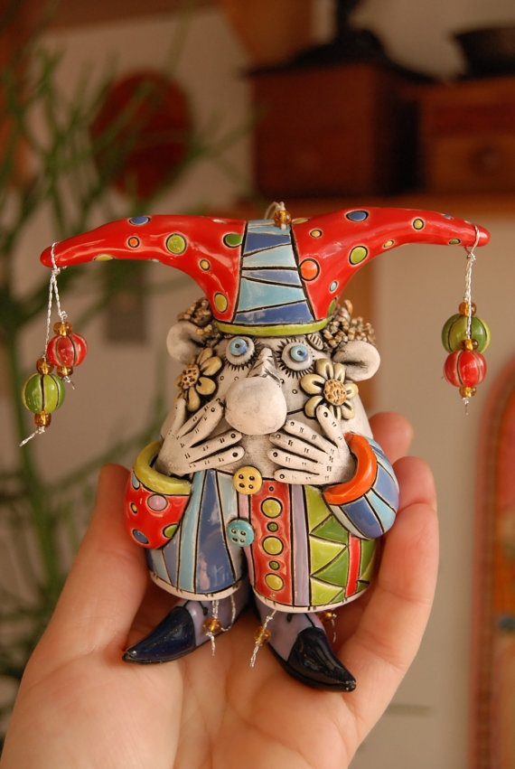 I'm in love with a jester!  (work by Natalya Sots on Etsy)