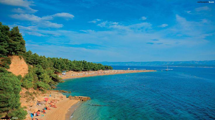 This is Paklina beach to the west of Zlatni Rat. it is one of Bol's secret beaches!