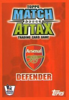 2007-08 Topps Premier League Match Attax #7 William Gallas Back