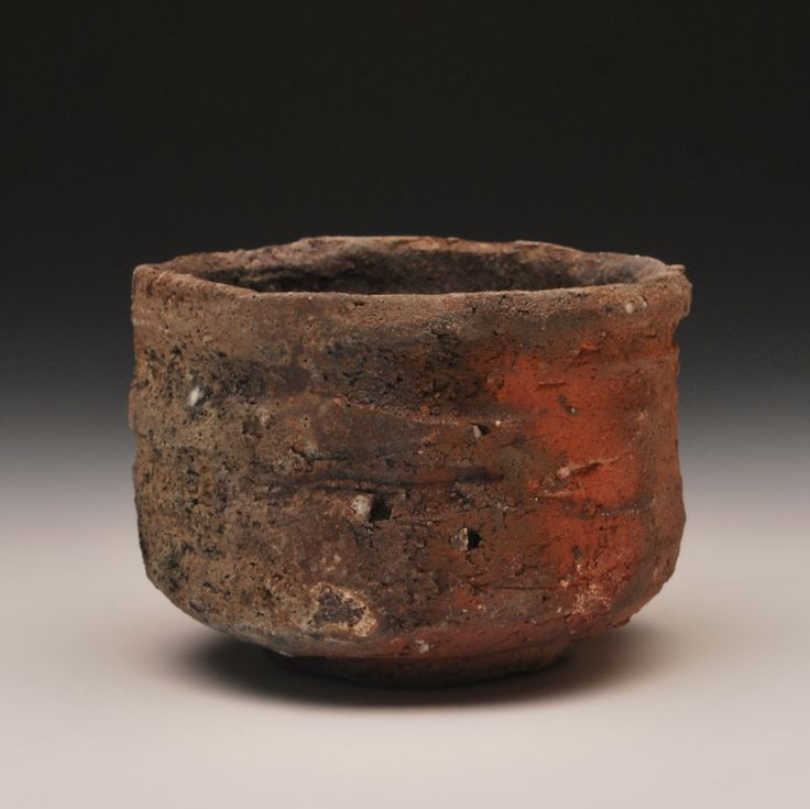 Mitch Iburg, Ember Buried Tea Bowl, Wood/Soda Fired Native Clay, 2013