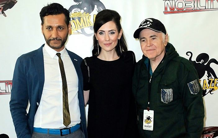 Cas Anvar, Adrienne Wilkinson & Walter Koenig at the Nobility premier in Los Angeles.  Photo by Al Ortega.