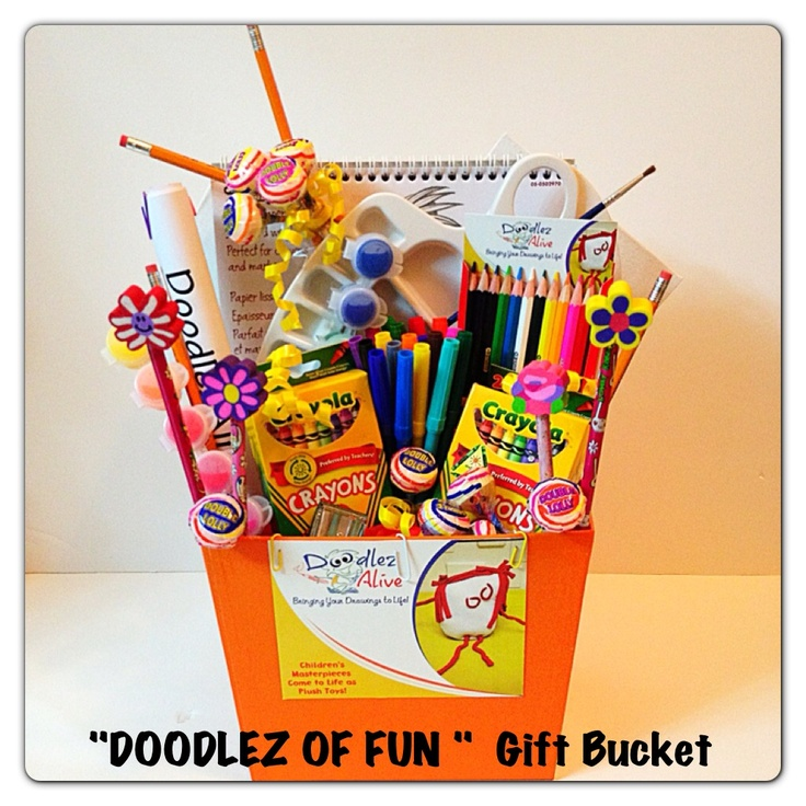 Celebrate a little artist with this Doodlez of Fun Bucket!
