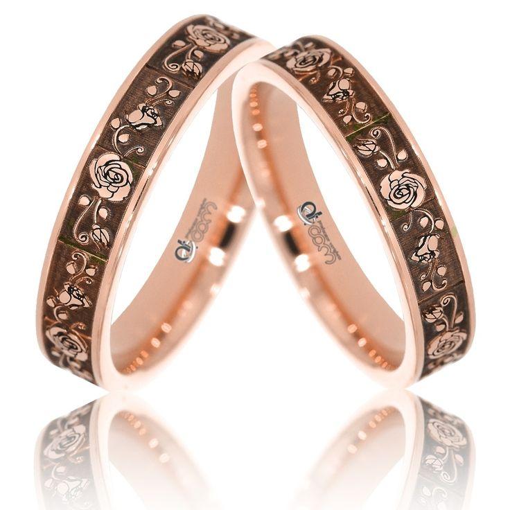 Verighete ATCOM Lux ROSA slim aur roz