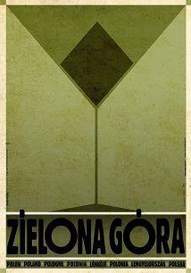 Zielona Góra, plakat z serii Polska, Ryszard Kaja