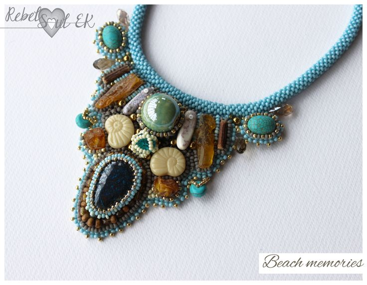 Natural amber beach necklace, turquoise necklace, mermaid necklace, summer jewelry, coastal necklace, Boho Necklace, old tribal necklace