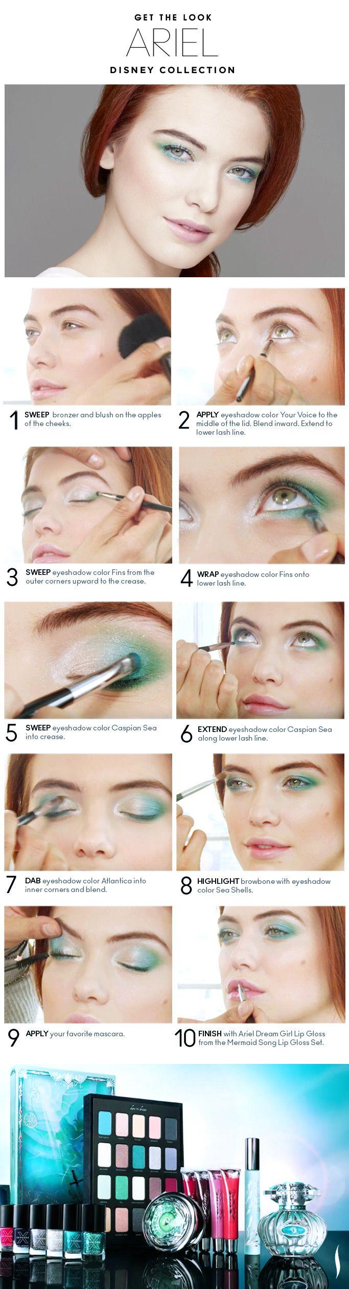 Beauty How To: The Disney Ariel Look #Sephora #makeup #makeuptutorial