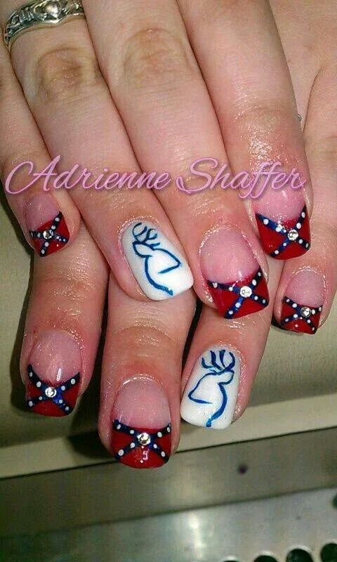 Best 25 flag nails ideas on pinterest american flag nails july rebel flag nails prinsesfo Gallery