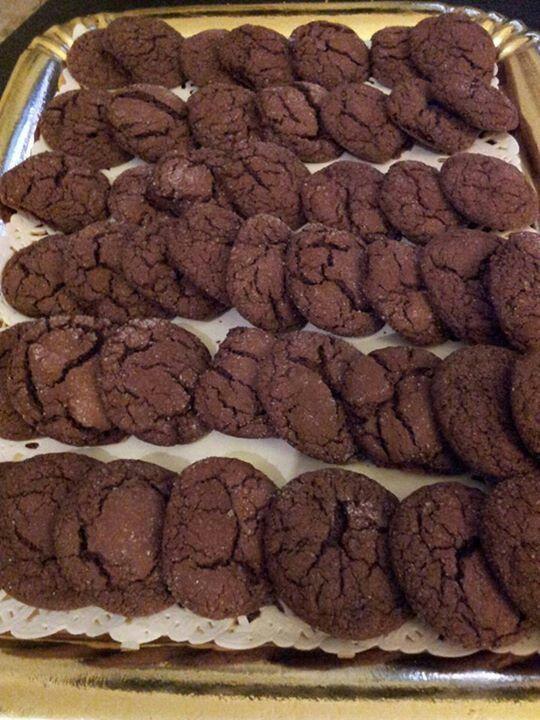 Biscotti al fondente dal cuore morbido
