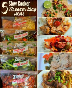 5 Slow Cooker Freeze Bag Meals that you can make under an hour. Save time, money and effort by preparing your meals ahead of time. Hip2Save.com is happy to bring you money saving tips and recipes you and your family can enjoy.