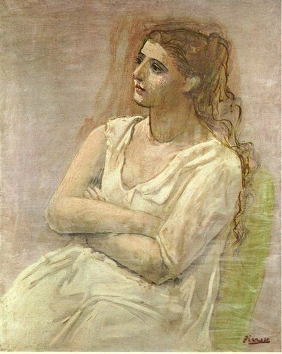 Seated woman with her arms folded (Sarah Murphy) by Pablo Picasso