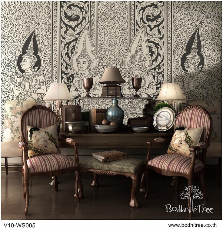 Thai Art design wall