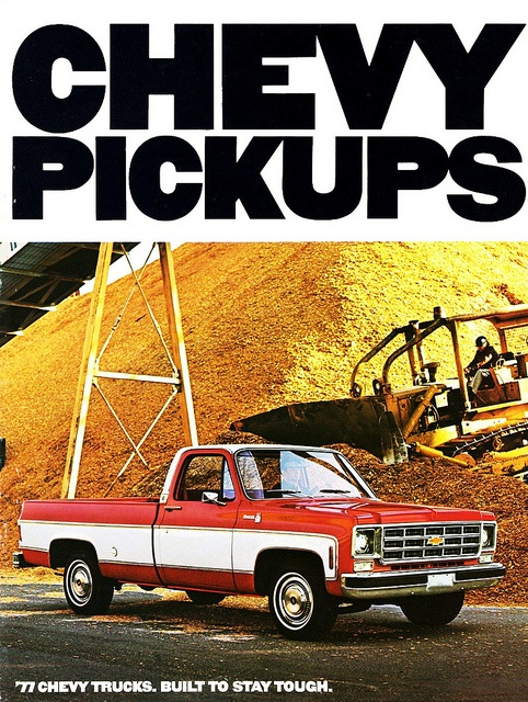 1977 Chevrolet Pickups--almost like my first truck! Lol