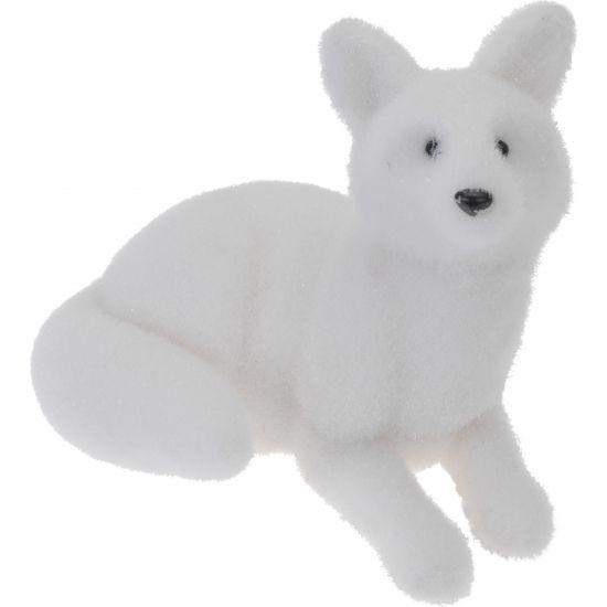 Poolvos decoratie beeld wit  Vos decoratie beeld wit. Dit beeld van een witte poolvos is gemaakt van polyfoam met kunststof en is enkel voor binnen geschikt. Afmeting: ca. 29 cm.  EUR 19.95  Meer informatie
